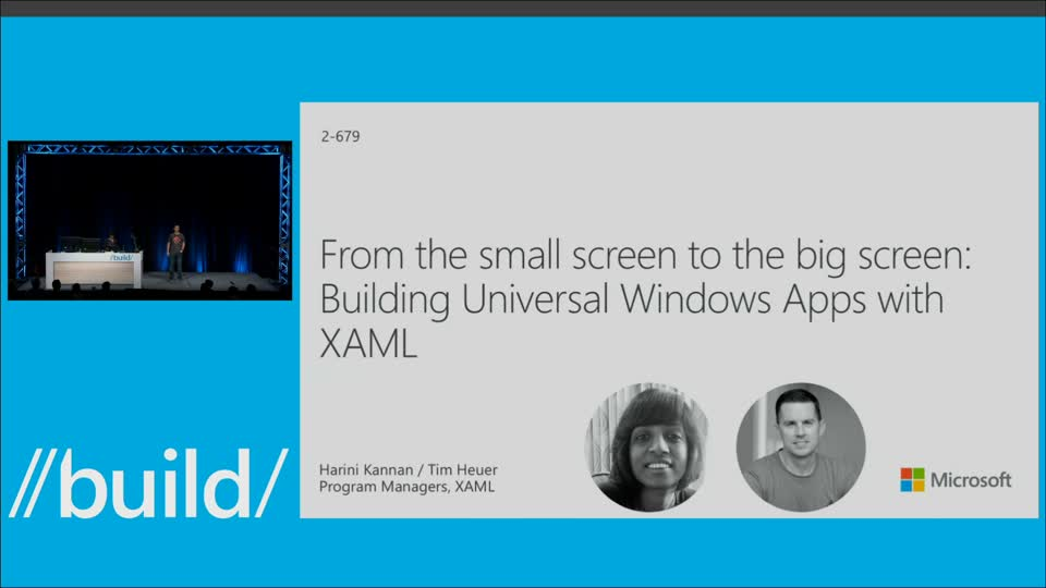 From the Small Screen to the Big Screen: Building Universal Windows App Experiences with XAML