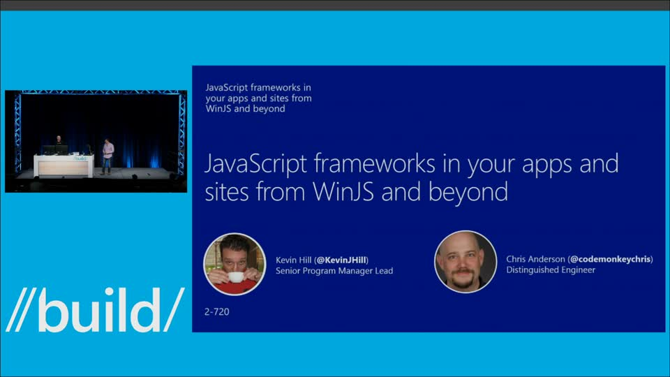 JavaScript Frameworks in Your Apps and Sites from WinJS and Beyond