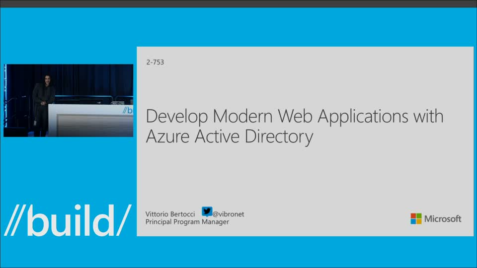 Develop Modern Web Applications with Azure Active Directory