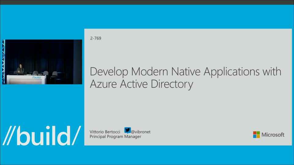 Develop Modern Native Applications with Azure Active Directory