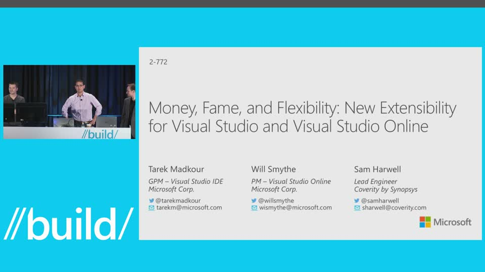 Money, Fame, and Flexibility: New Extensibility for Visual Studio and Visual Studio Online