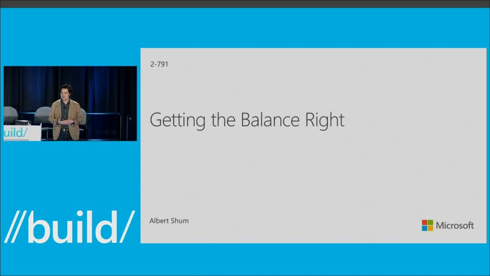Windows Design for Developers: Getting the Balance Right