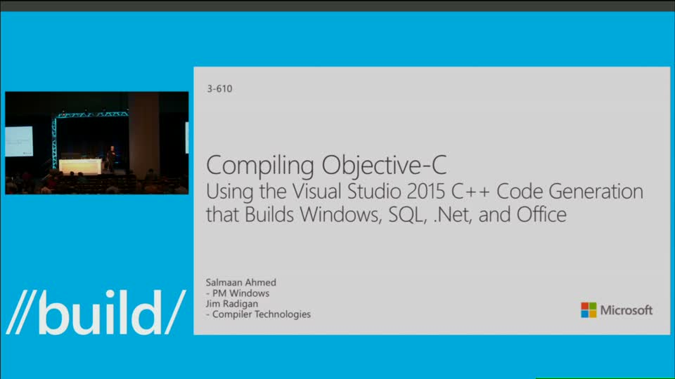 Compiling Objective-C Using the Visual Studio 2015 C++ Code Generation that  Builds Windows, SQL,  Net, and Office