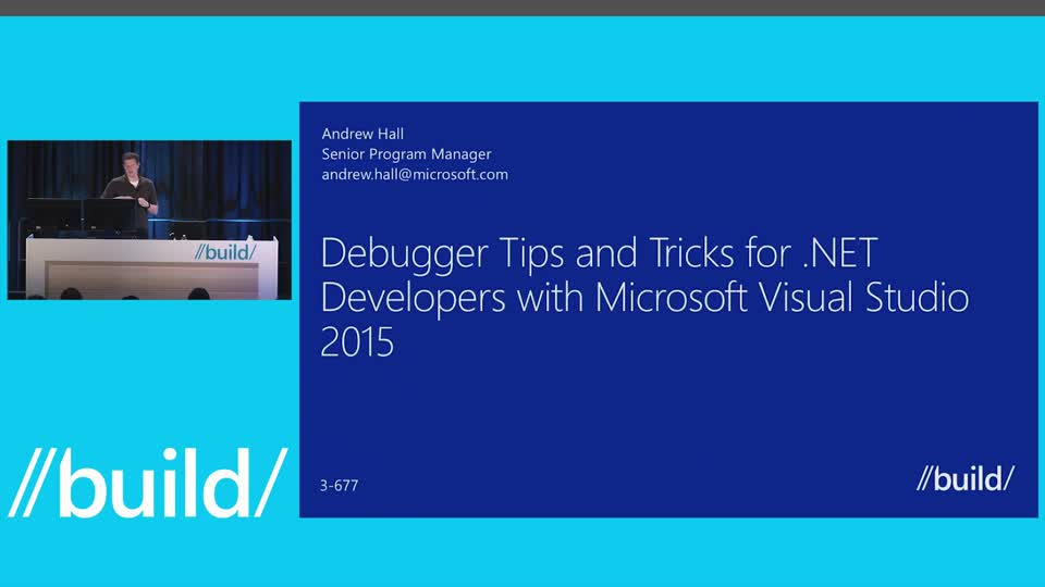 Debugger Tips and Tricks for .NET Developers with Visual Studio 2015