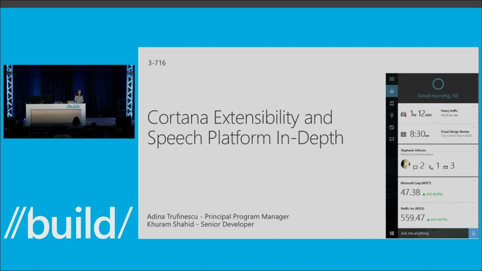 Cortana and Speech Platform In Depth
