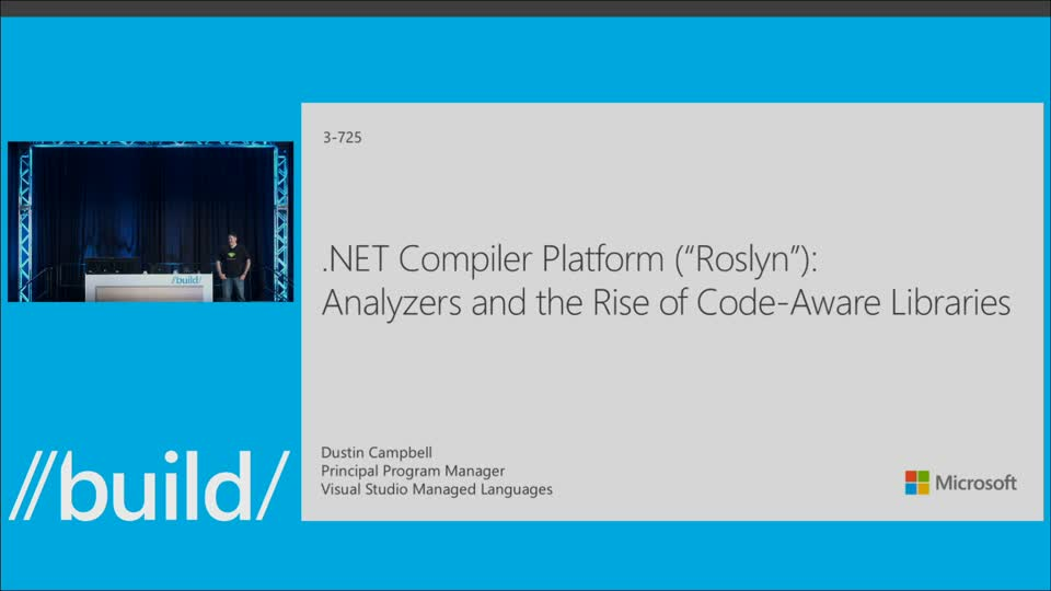 ".NET Compiler Platform (""Roslyn""): Analyzers and the Rise of Code-Aware Libraries"
