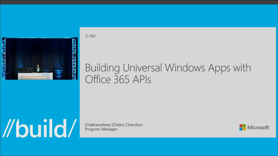 Building Universal Windows Apps with Office 365 APIs