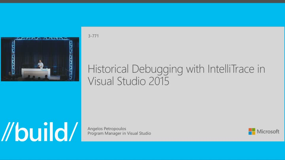 Historical Debugging with IntelliTrace in Visual Studio 2015
