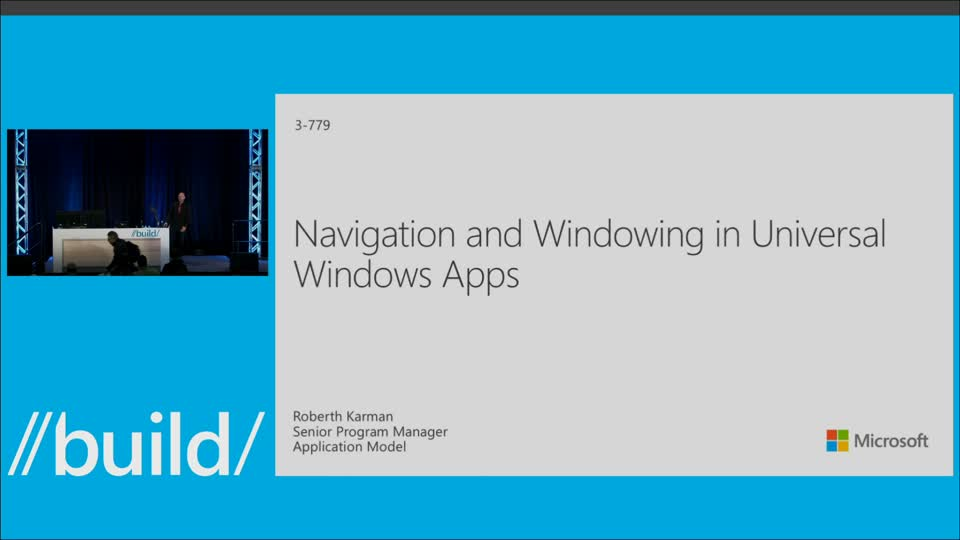 Navigation and Windowing in Universal Windows Apps