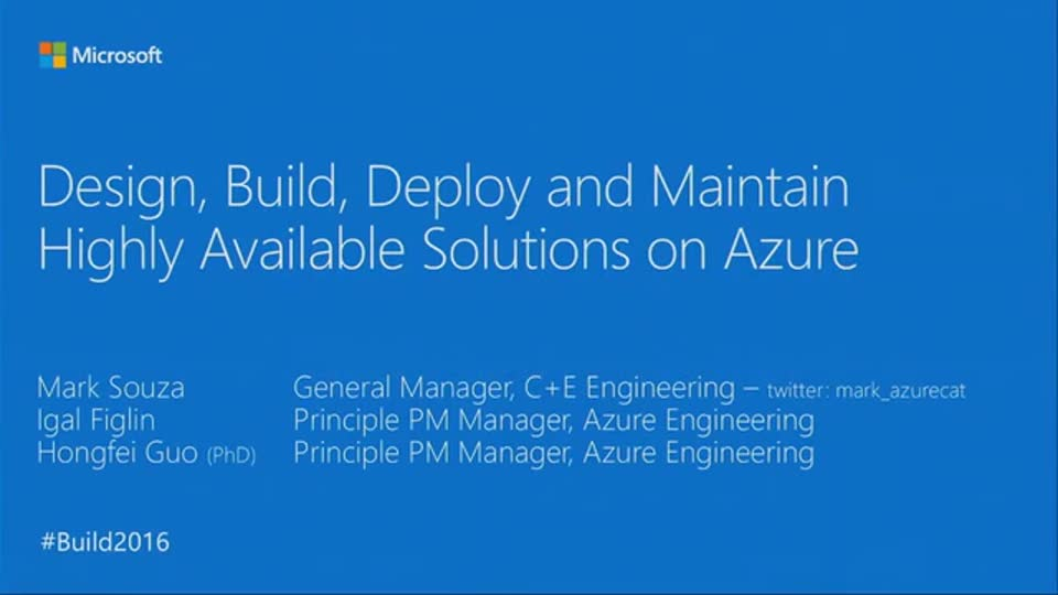 Building and Maintaining Resilient Customer Applications on Azure