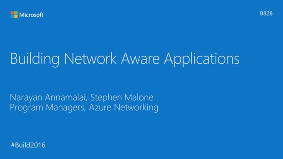 Building Network-Aware Applications
