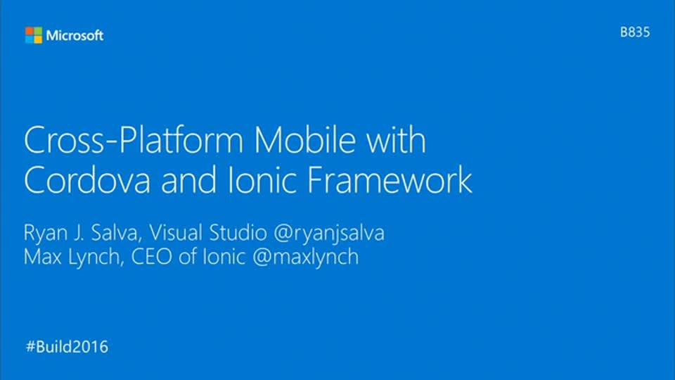 Cross-Platform Mobile with Cordova and Ionic Framework