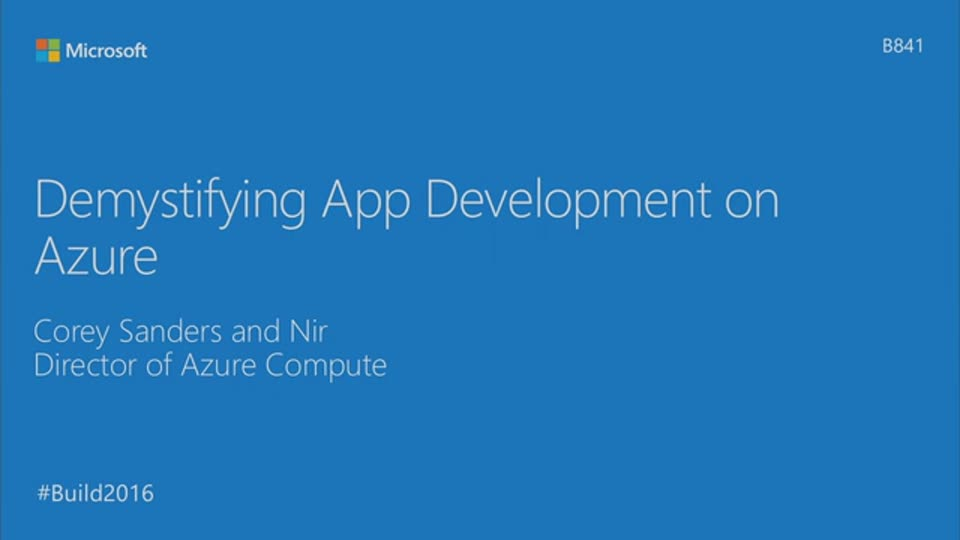 Demystifying App Development on Azure