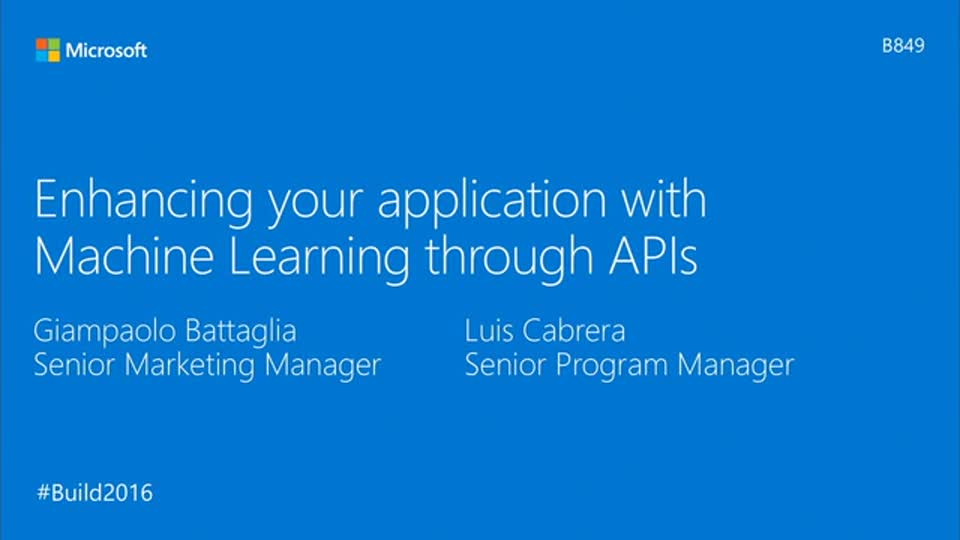 Enhancing Your Application with Machine Learning Through APIs