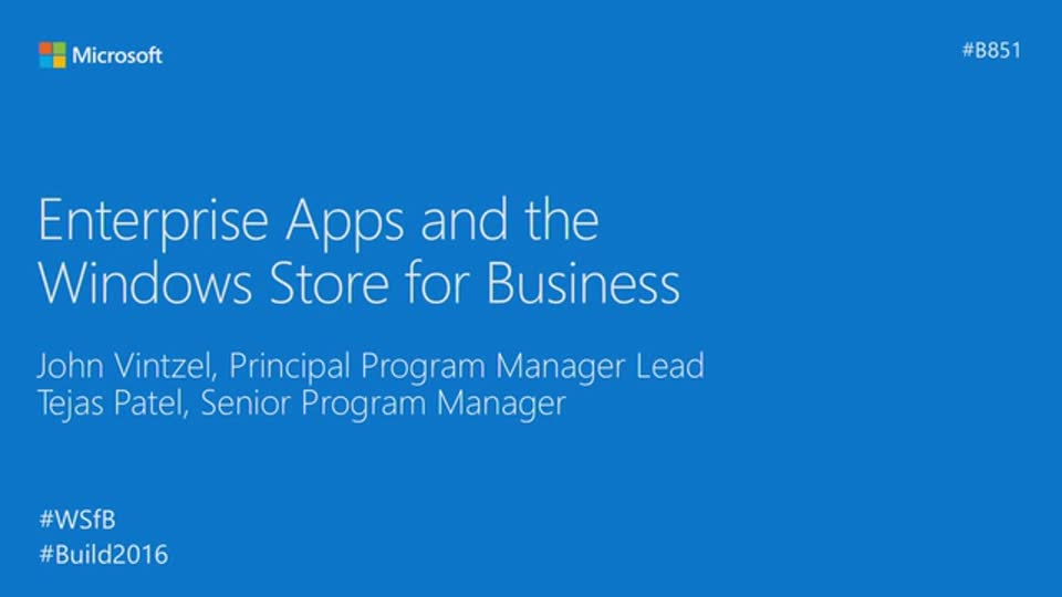 Enterprise Apps and the Windows Store for Business