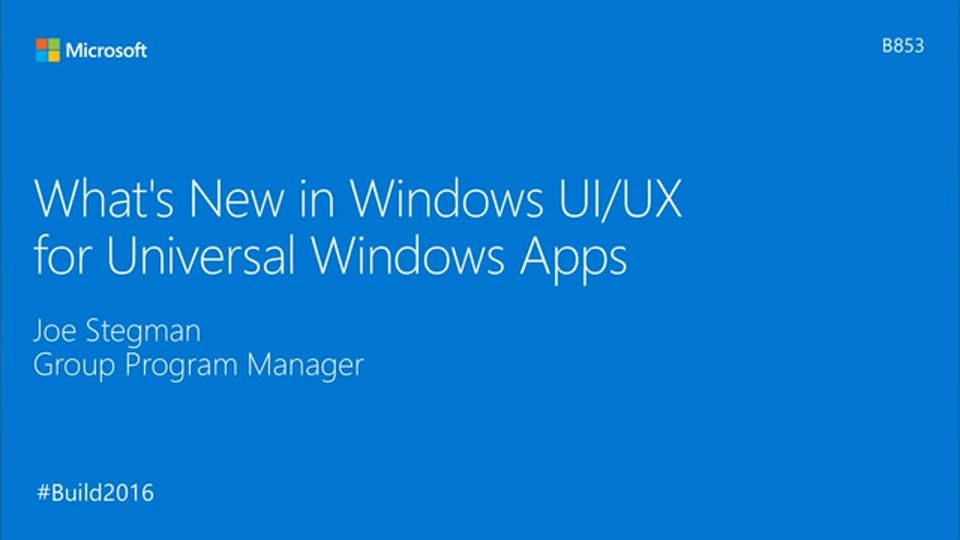 What's New in Windows UI/UX for Universal Windows Platform (UWP) Apps