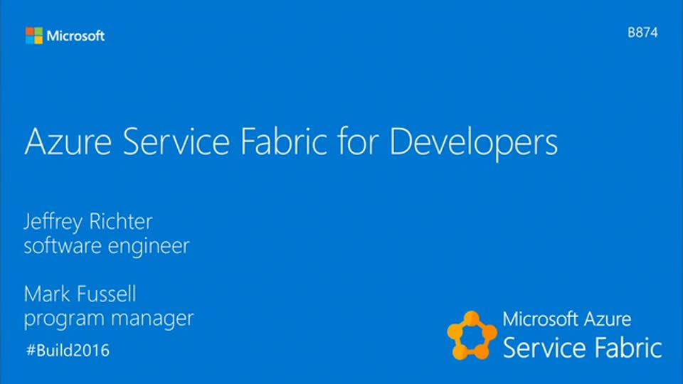 Azure Service Fabric for Developers