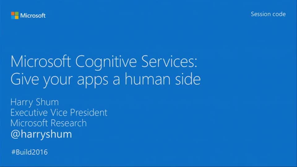 Microsoft Cognitive Services: Give Your Apps a Human Side