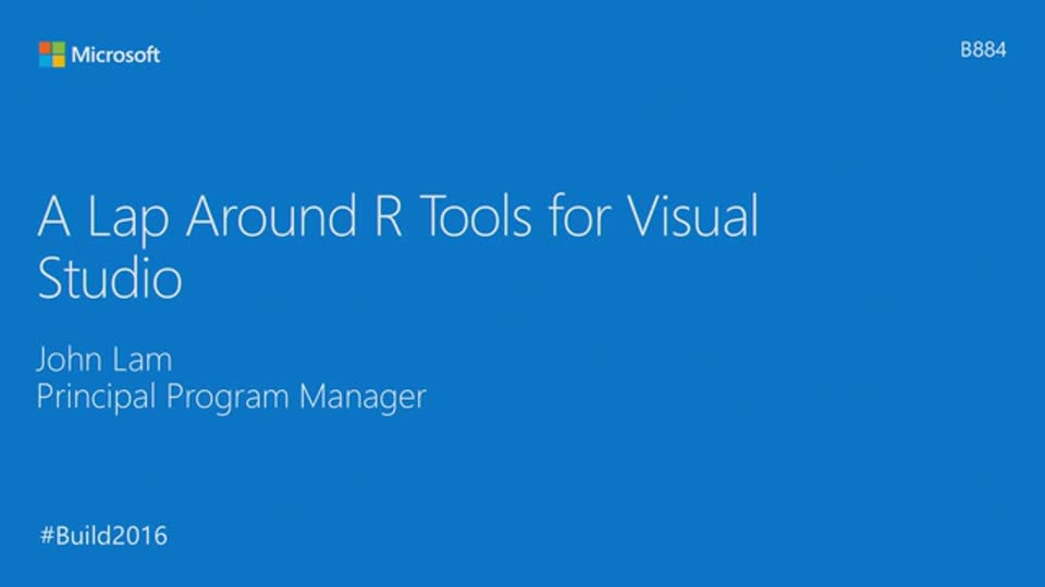 A Lap Around R Tools for Visual Studio