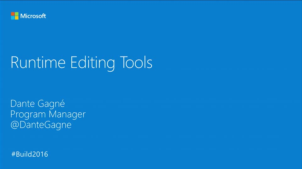 Runtime Editing Tools for XAML