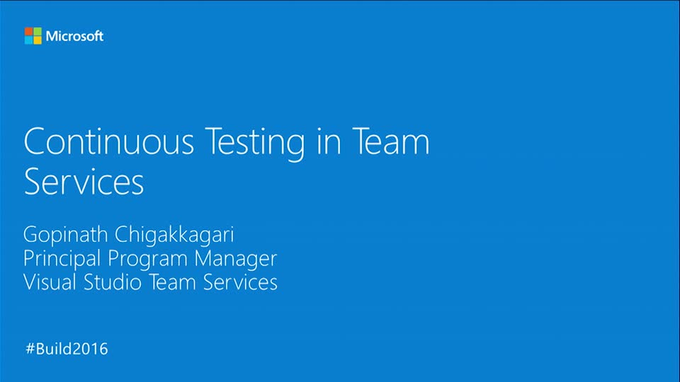 Continuous Testing in Team Services