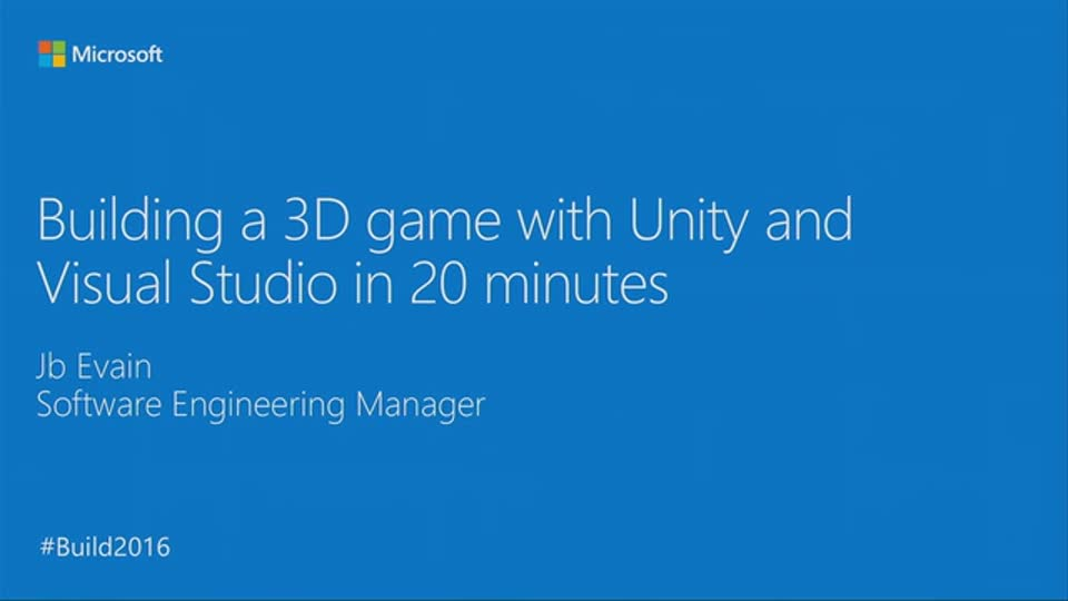 Building a 3D Game with Unity and Visual Studio in 30 Minutes