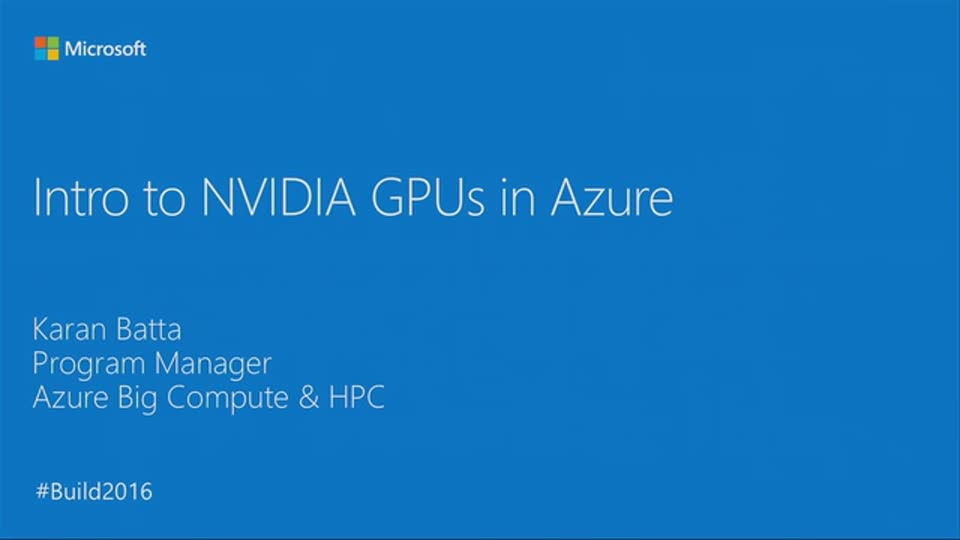 Introduction to NVIDIA GPUs in Azure