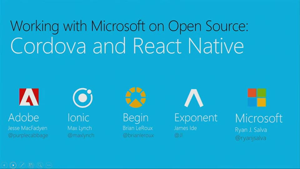 Working with Microsoft on Open Source: Cordova and ReactNative