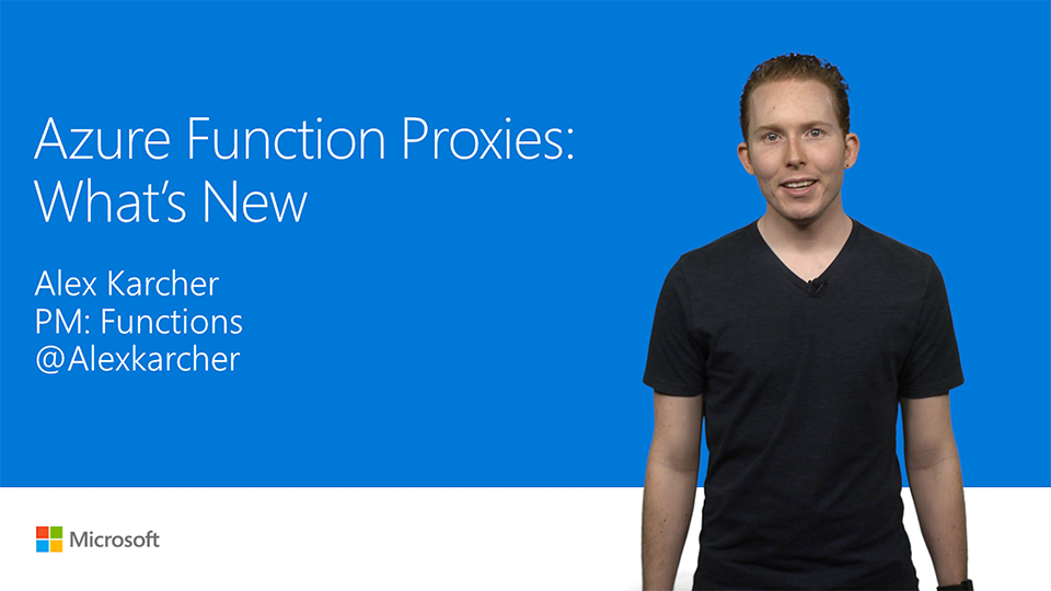 Azure Functions Proxies: What's new