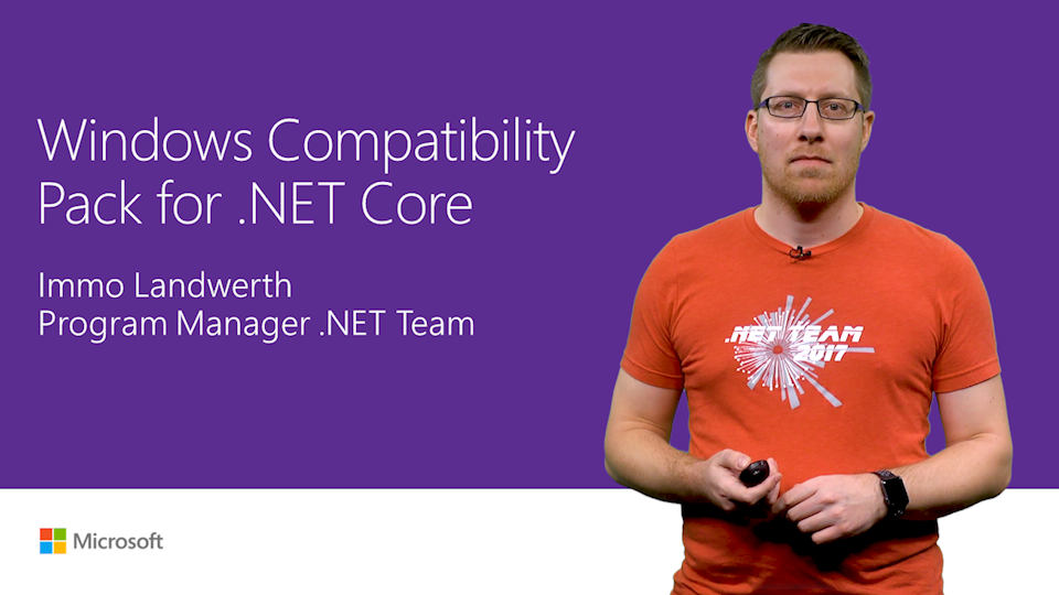 Windows Compatibility Pack for .NET Core