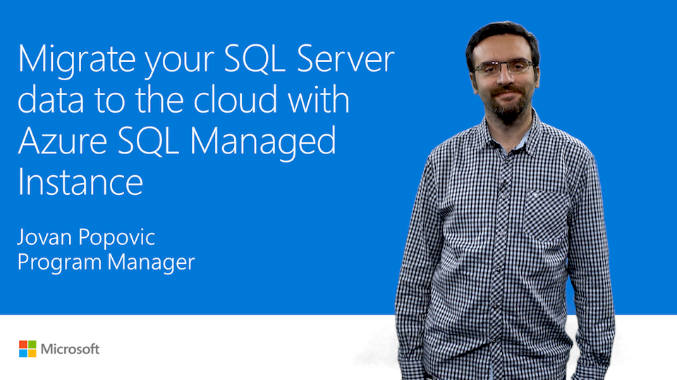 Migrate SQL Server data by using Azure SQL Database Managed Instance