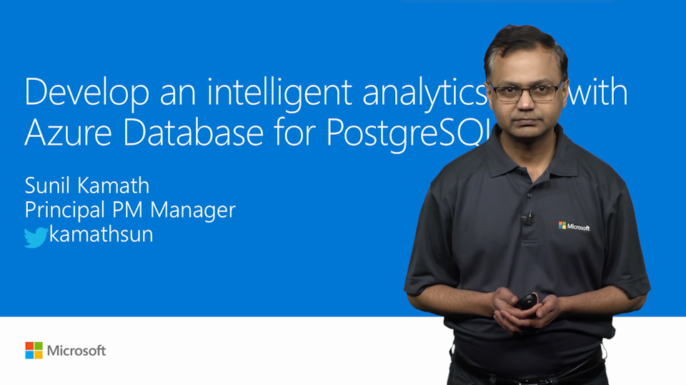 Develop an intelligent analytics app with PostgreSQL