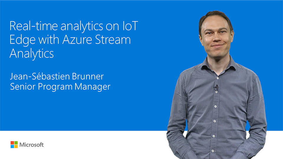 Real-time analytics on IoT Edge with Azure Stream Analytics