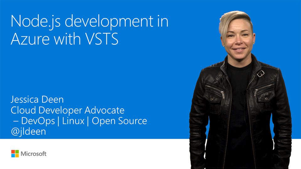 Node.js development in Azure with Visual Studio Team Services