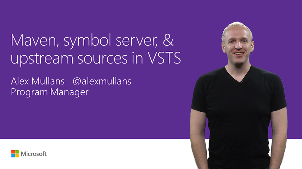 Maven, symbol server, and upstream sources in VSTS