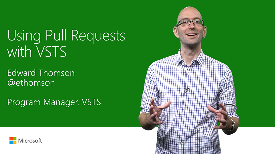Using pull requests with Visual Studio Team Services