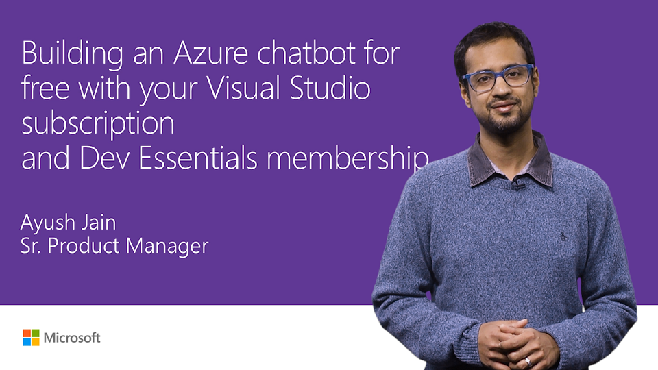 Free Azure chatbot with Visual Studio subscription and Dev Essentials