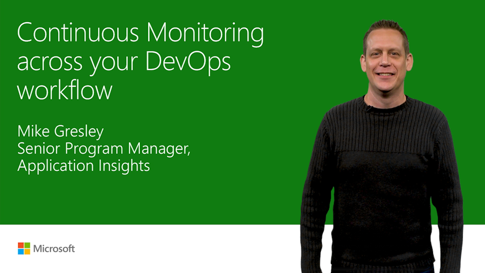 Continuous monitoring across your DevOps workflow in Visual Studio
