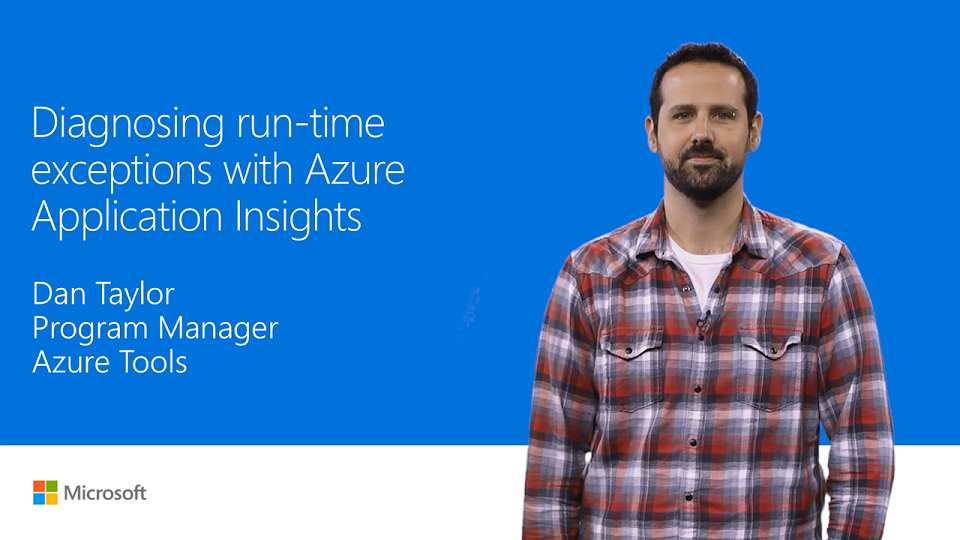 Find and diagnose runtime exceptions with Azure Application Insights