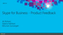 Lync/Skype Product Feedback Capture