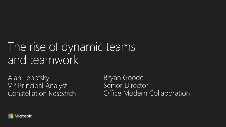 The Rise of Dynamic Teams