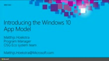 Introducing Windows 10 Development and App Model