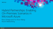 Hybrid Partnerships: Enabling On-Premises Scenarios in Microsoft Azure
