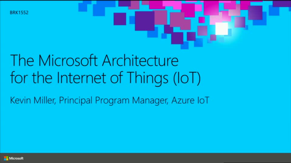 The Microsoft Architecture for the Internet of Things (IoT)