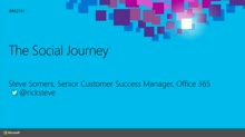 The Social Journey: The Customers' Perspective