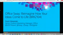 Office Sway: Reimagine How Your Ideas Come to Life