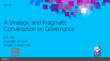 A Strategic and Pragmatic Conversation on Governance