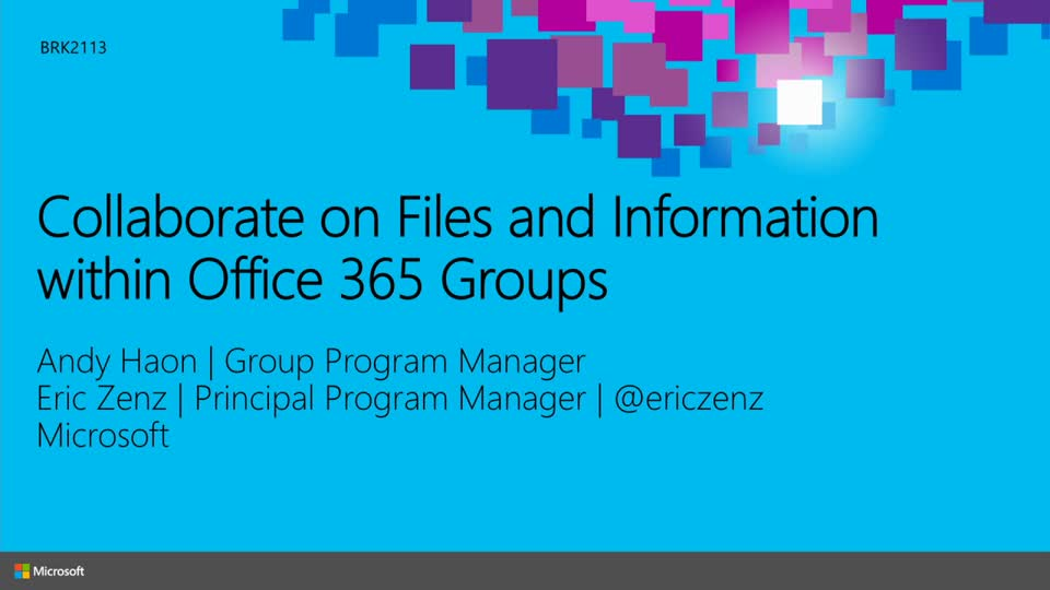 Collaborate on Files and Information within Office 365 Groups