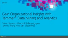 Gain Organizational Insights with Yammer Data Mining and Analytics