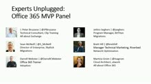 Microsoft Office 365 MVP Panel